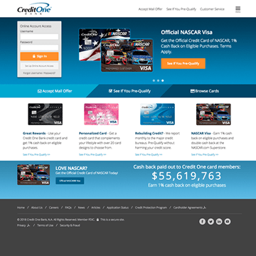 Credit One Bank Corporate Website