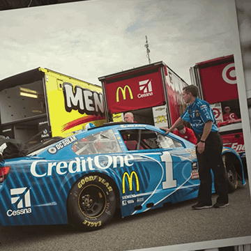 Jamie McMurray's new Credit One Bank No. 1 Chevrolet SS debuts at the 2016 Toyota Owners 400